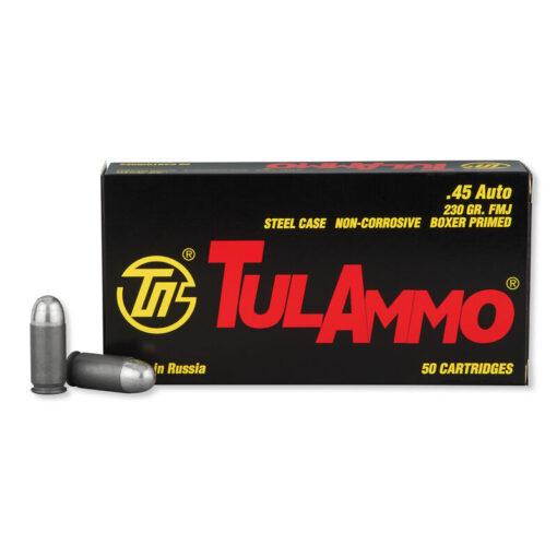 45 ACP Ammo by Tula - 230gr FMJ