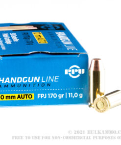 50 rounds10mm Ammo by Prvi Partizan - 170gr FPJ